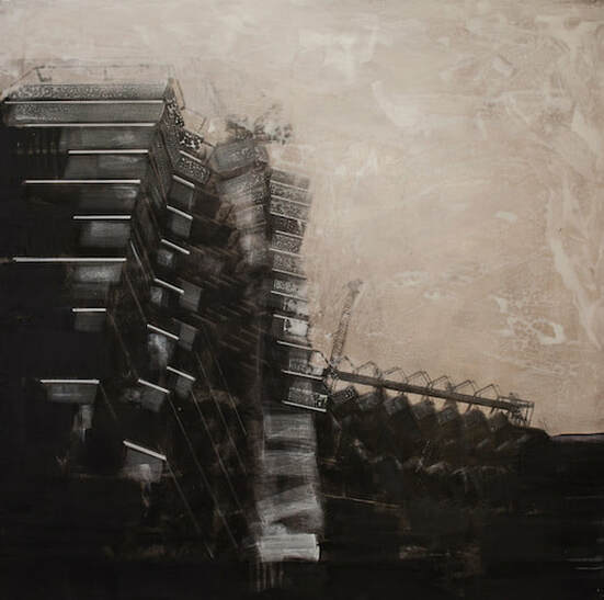 Artist - Semih Zeki - Artwork - mixed technique on canvas - Cep Gallery - Contemporary Exhibition Platform