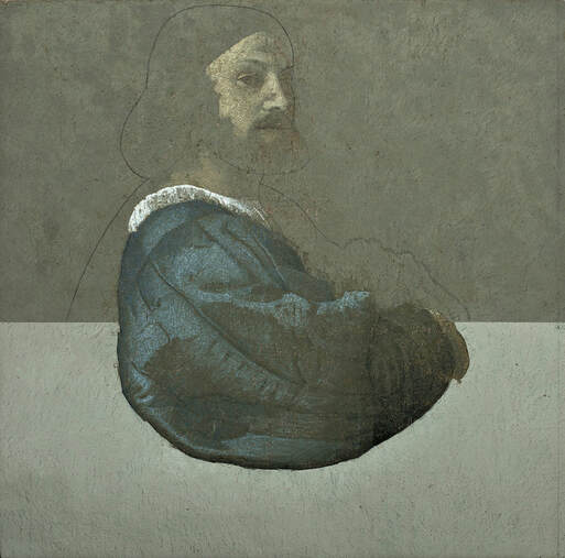 Takayoshi SAKABE | Tiziano, oil on canvas  | 80x80 cm  Sold